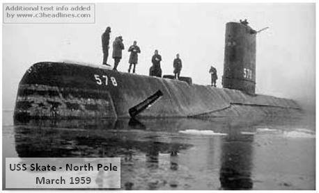 USS Skate North Pole