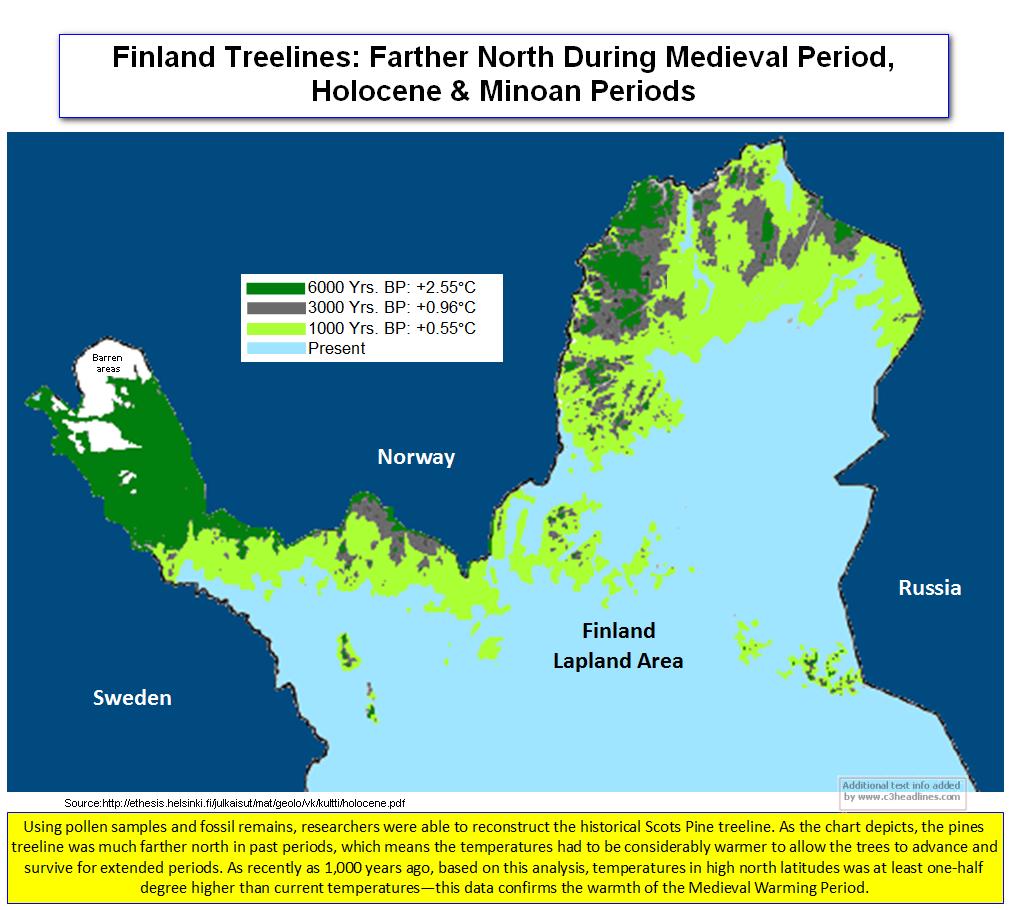 Treeline Finnish Lapland
