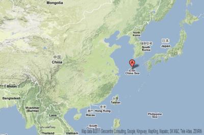 East china sea map