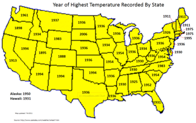 US State hot temps 7-8-2011