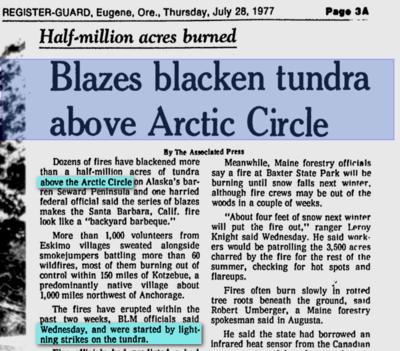 Arctic tundra fires