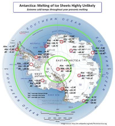 Antarctica extreme cold temperatures