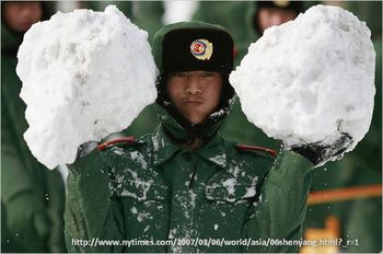 Extreme weather events china snowstorm