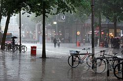 Extreme climate change severe weather global warming rain in hamburg