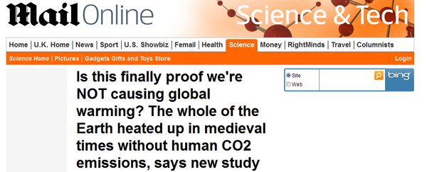 Daily Mail antarctica climate change