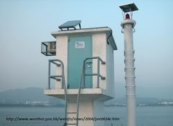 Tide gauge station honk kong
