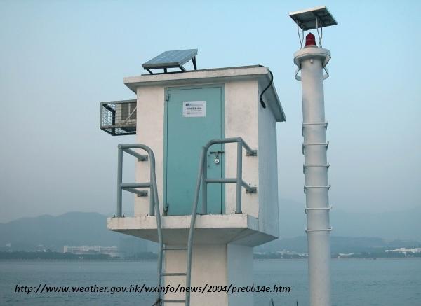 Tide gauge station honk kong