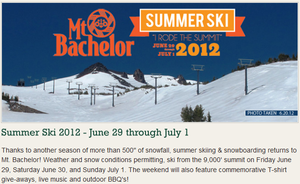 Modern global cooling summer snow skiing