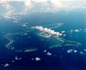 Rising sea level co2 indian ocean Diego garcia