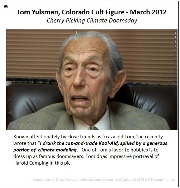 Tom Yulsman cherry picking cultist aka Harold Camping