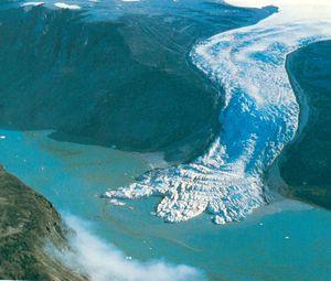 Global sea level rise melting glaciers tiny impact