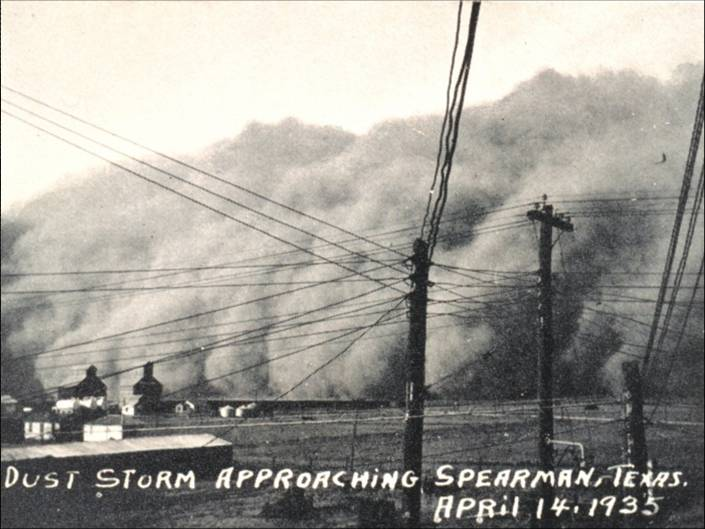 Texas drought dust-bowl 1935 severe weather extreme climate change