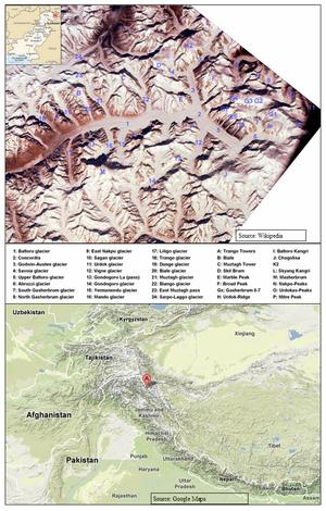 Karakoram himalayan glaciers expanding opposite ipcc climate models