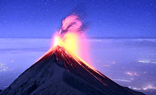 1957 climate change sub-350 Fuego-volcano-guatemala-eruption
