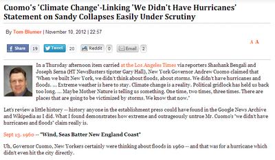 NY hurricane liberal democrat gov cuomo stupidity climate change