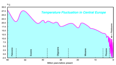 Central europe temperatures past climate
