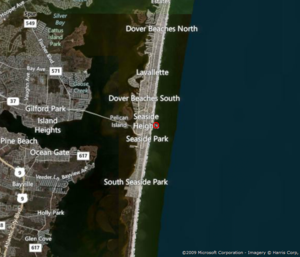 Jersey shore sea level increase not accelerating
