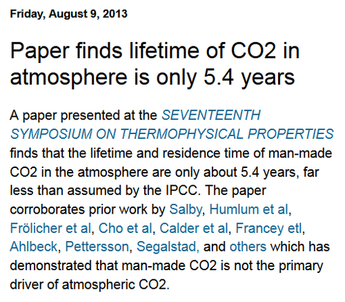 Human co2 emissions residence ipcc climate change