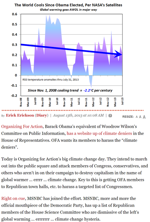 Climate denier liar bsers msnbc mainstream news obama climate change global warming cooling