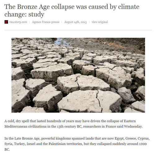 Co2 extreme climate change bronze age natural