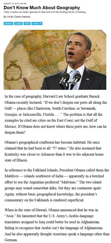 Obama geography climate alarmism al gore lisa jackson con