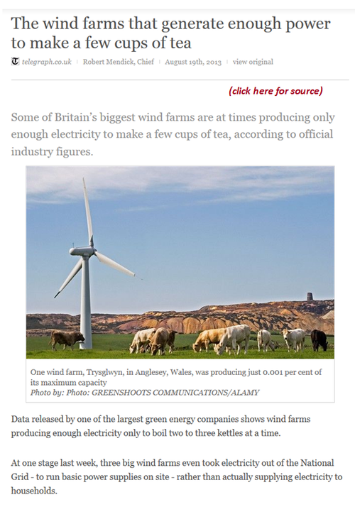 Dumb green wind energy projects
