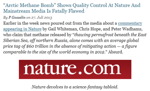 Nature climate denier-liar arctic methane catastrophe hoax