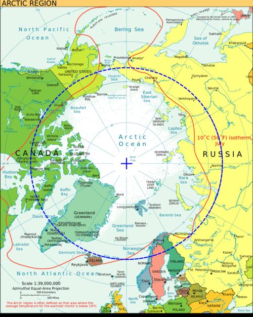 Wikipedia image Arctic_circle region medieval period warmer than modern