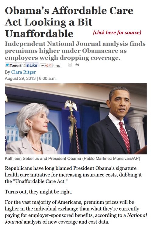 Obama america health care unaffordable