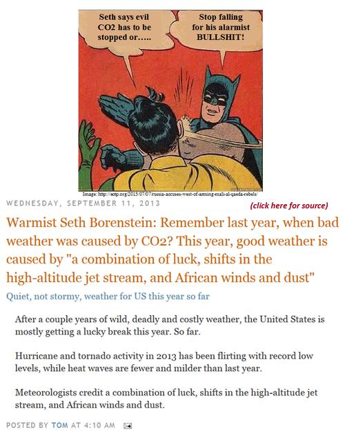 Seth borenstein ap chronic climate alarmist bullshitter