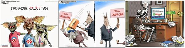 Obamacare cartoons 110813
