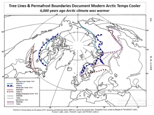 Arctic tree lines permafrost boundaries modern and ancient