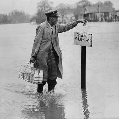 1954-milkman UK floods
