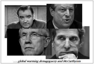 Joe mccarthy al gore harry reid john kerry global warming demagoguery 051514