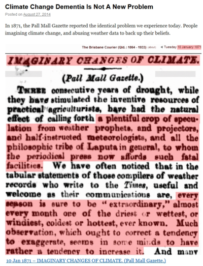 Compulsive climate change disorder c3o since 1871
