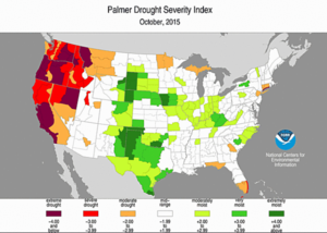 Oct 2015 US drought NOAA